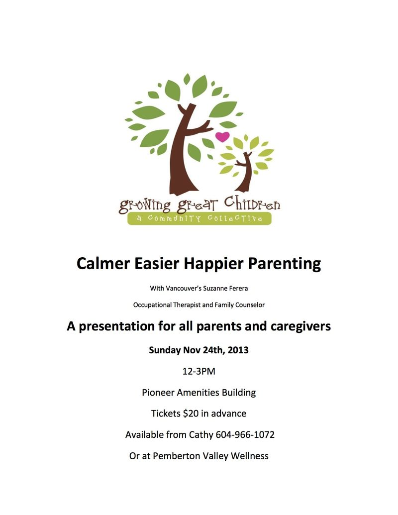Calmer Easier Happier Parenting poster copy